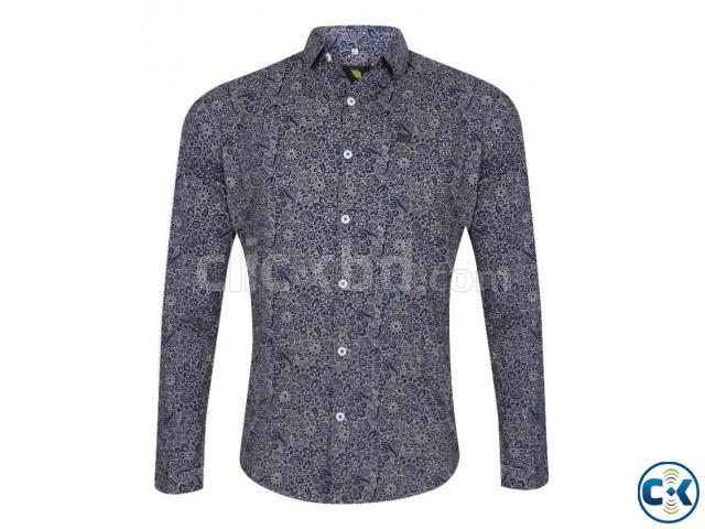 Premium Men s printed Slim fit full sleeve shirts   ClickBD large image 0