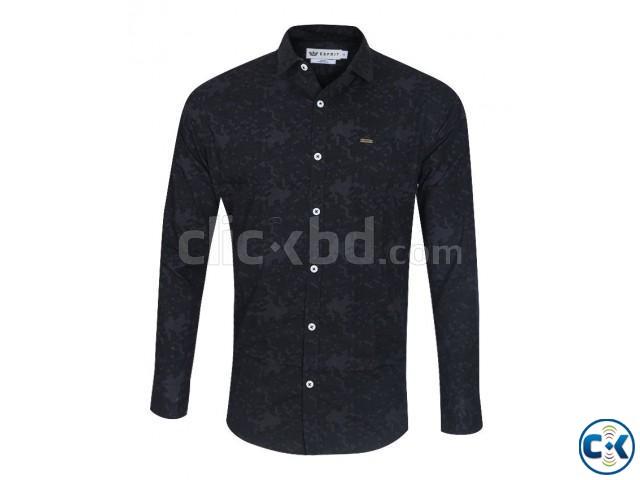Premium Men s printed Slim fit full sleeve shirts   ClickBD large image 1
