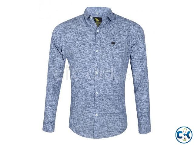 Premium Men s printed Slim fit full sleeve shirts   ClickBD large image 2
