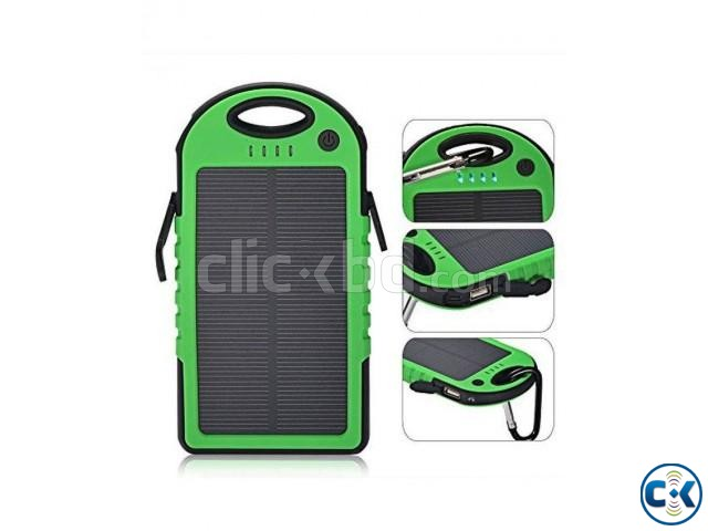5000 mAh Solar Charger Battery USB Power Bank For Mobile | ClickBD large image 0