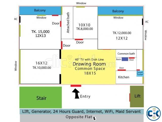 Room Rent Niketon Gulshan-1 | ClickBD large image 0