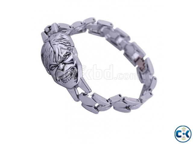 Avengers Hulk silver Bracelet | ClickBD large image 2