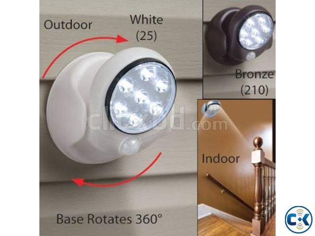 Cordless Outdoor LED Motion Sensor Light 7-LED ASH  | ClickBD large image 0