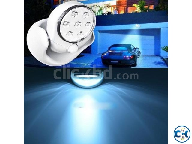 Cordless Outdoor LED Motion Sensor Light 7-LED ASH  | ClickBD large image 1