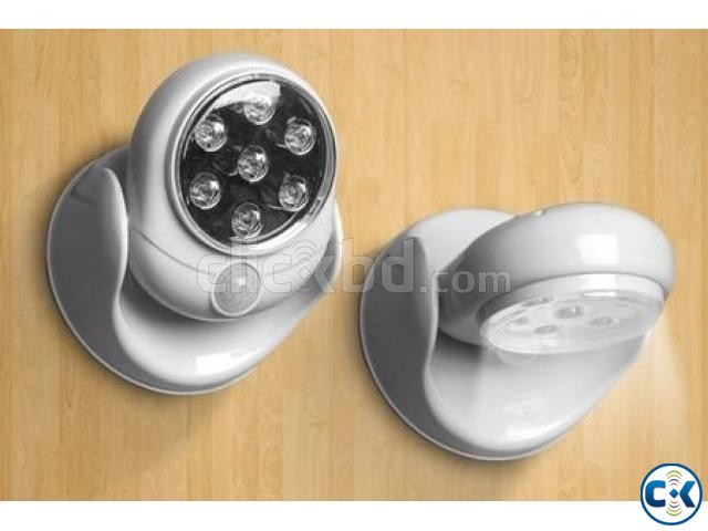 Cordless Outdoor LED Motion Sensor Light 7-LED ASH  | ClickBD large image 2
