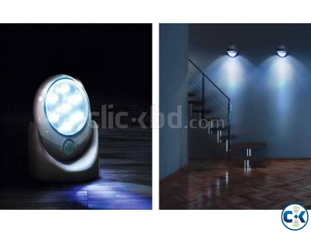 Cordless Outdoor LED Motion Sensor Light 7-LED ASH  | ClickBD large image 3