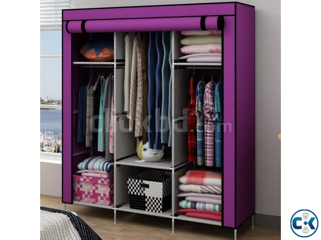 Portable China Fashion 3 door Wardrobe | ClickBD large image 0