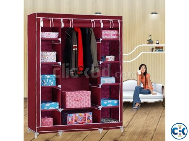 Portable China Fashion 3 door Wardrobe | ClickBD large image 1