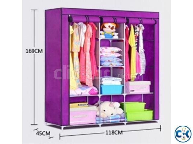 Portable China Fashion 3 door Wardrobe | ClickBD large image 2