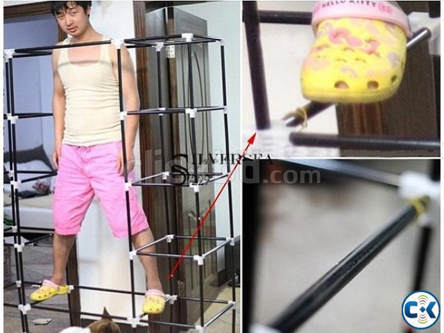Portable China Fashion 3 door Wardrobe | ClickBD large image 3
