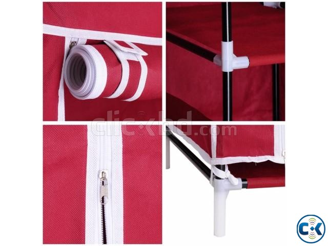 Portable China Fashion 3 door Wardrobe | ClickBD large image 4
