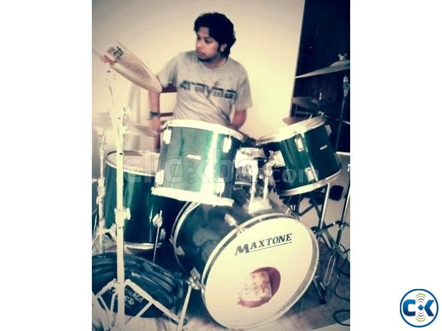 Maxtone Drums. with Pst5 Paiste 402 With out pedal  | ClickBD large image 0