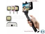 Bluetooth Selfie Stick and LED Flash Light Combo