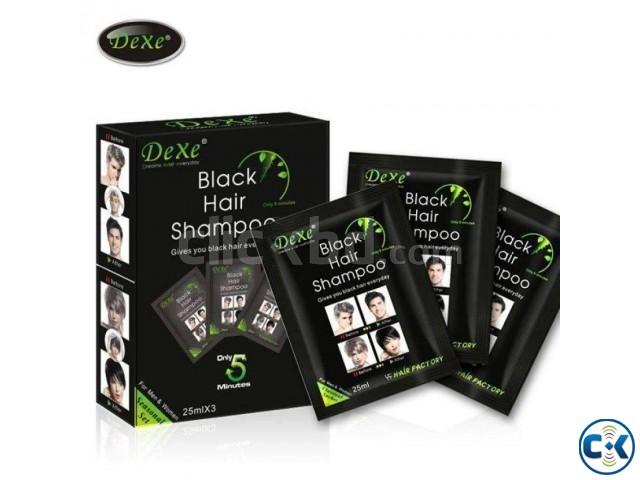 Dexe Black Hair Color Shampoo | ClickBD large image 0