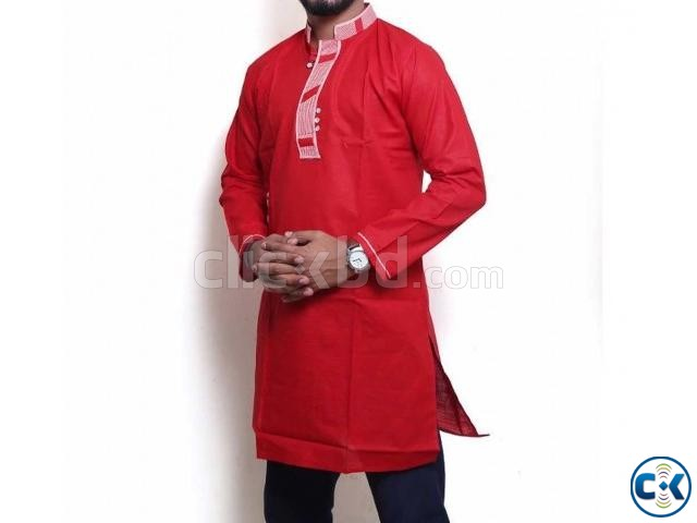 Men s Cotton Short Panjabi | ClickBD large image 0