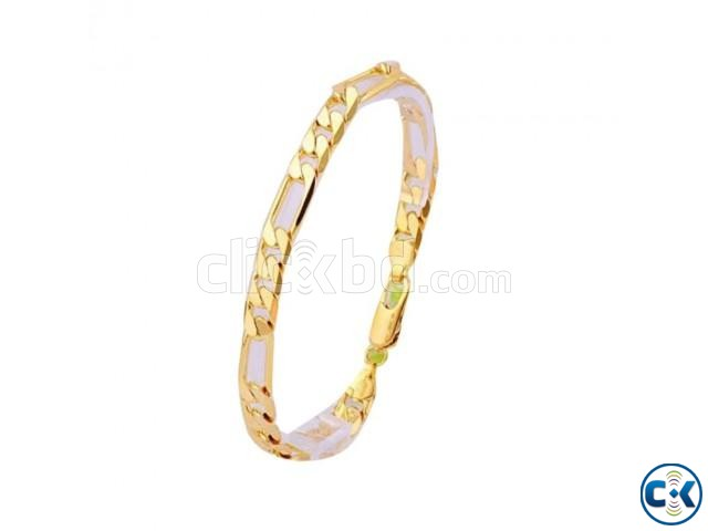 Nobility 14K Golden Bracelet for Men | ClickBD large image 0