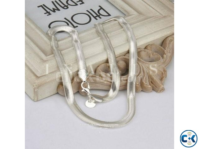 Okdeals 925 Silver Plated 6mm Snake Pendant Necklace | ClickBD large image 0