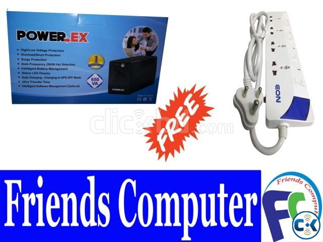 Power-EX 650Va Ups Power Strip | ClickBD large image 0