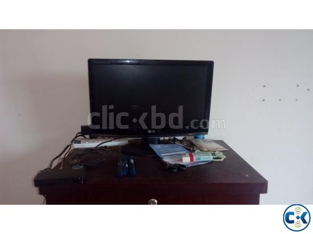 LG 20 LED Monitor with Gadme TV card 01709640221  | ClickBD large image 1