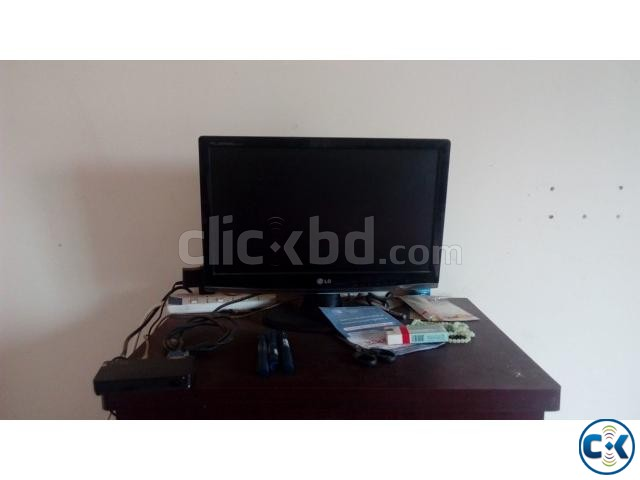 LG 20 LED Monitor with Gadme TV card 01709640221  | ClickBD large image 2