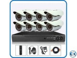 8pcs CCTV Camera package Lowest Price in BD
