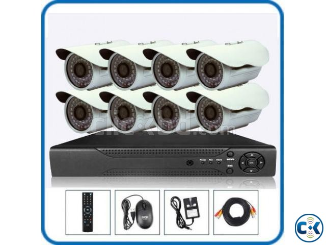 8pcs CCTV Camera package Lowest Price in BD | ClickBD large image 0