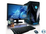GAMING PC i3 7th GEN 4GB 1000GB 19 LED