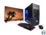 GAMING PC Core i3 4GB 320GB 19 LED