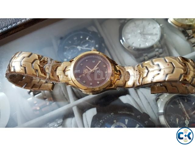TAG HEUER LINK100 M - 32 mm Gold mother of pearl Diamond di | ClickBD large image 0
