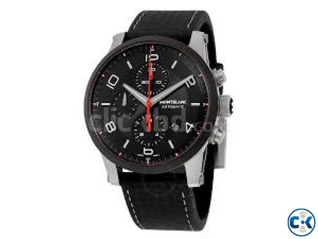 IN THIS EID GRAB DIRECT IMPORTED MONTBLANC WATCH BLACK COLOU   ClickBD large image 0