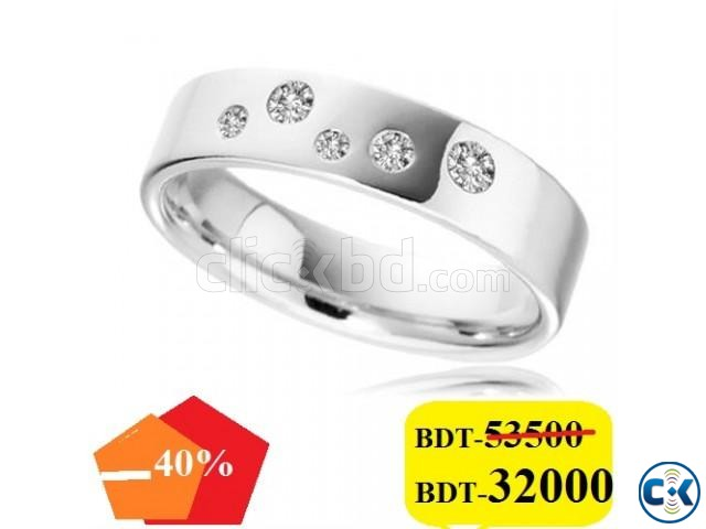 Diamond with white Gold Gens Ring | ClickBD large image 0