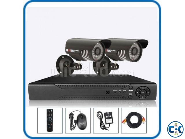 2pcs CCTV HD Camera package Full Night vision  | ClickBD large image 0