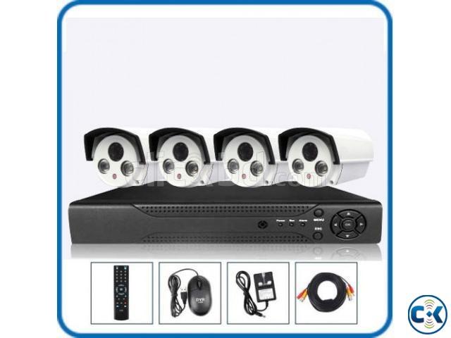 4pcs CCTV HD Camera package Full Night vision  | ClickBD large image 0