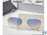 Ray Ban Golden Frame Smoke Shade SunGlass RB