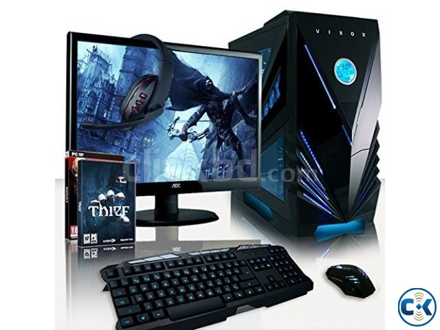 Gaming PC i5 7th GEN 4GB 1TB 19 HD LED | ClickBD large image 0