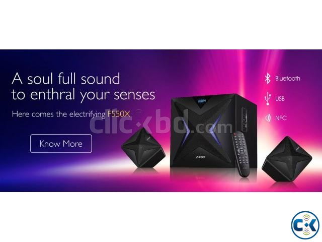 F D F550X Home Audio NFC Bluetooth Speaker | ClickBD large image 1