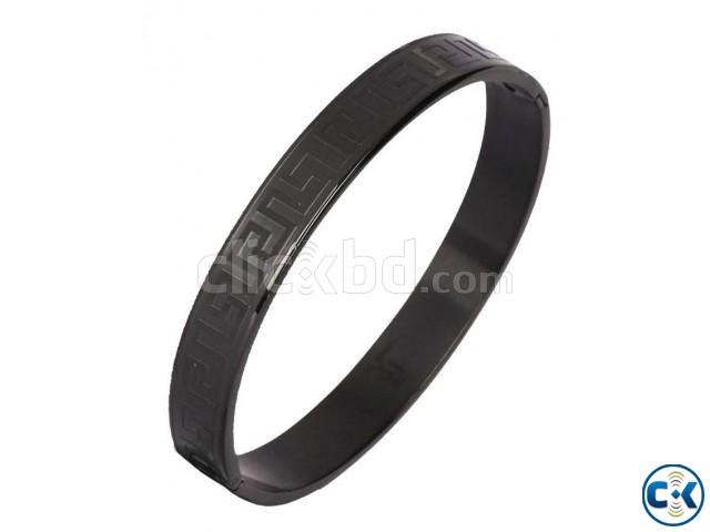 Black Metal Bracelet For Men | ClickBD large image 2