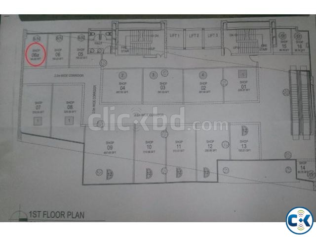 161 sq-ft. commercial shop space for sale in Dhanmondi 27. | ClickBD large image 2