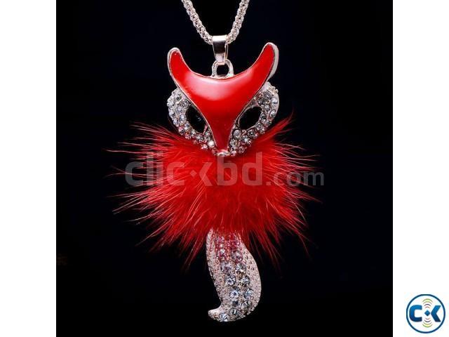 Fox Women Necklace Long Sweater Chain Zinc Alloy Pendant | ClickBD large image 0