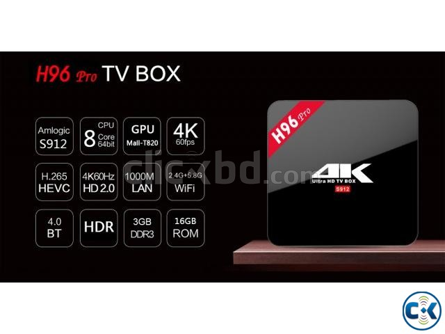ANDROID 4K TV BOXD H96 3GB RAM 32GB ROM | ClickBD large image 0