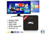 ANDROID 4K TV BOXD H96 2GB RAM 16GB ROM