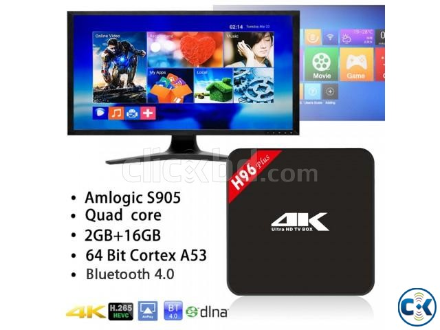 ANDROID 4K TV BOXD H96 2GB RAM 16GB ROM | ClickBD large image 0
