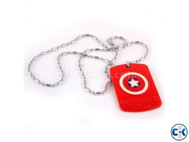 Captain America Locket With Chain | ClickBD large image 0