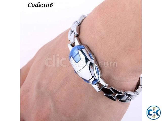 Iron Man Silver Color Bracelet Code 106 | ClickBD large image 0