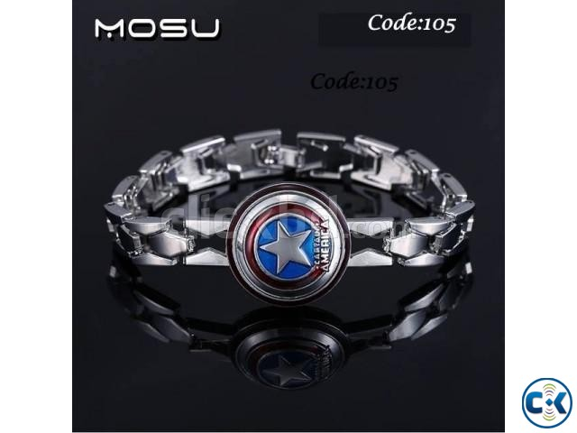 Iron Man Silver Color Bracelet Code 106 | ClickBD large image 0