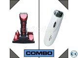 Combo of Kemei Trimmer and Emjoi Tweeze Facial Body Hair R