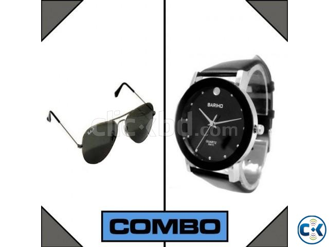 Bariho Watch men s Sunglasses Combo | ClickBD large image 0