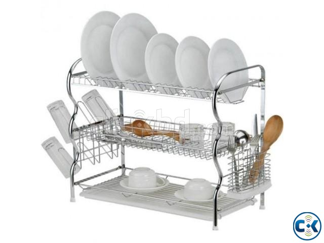 3 Layer Dish Drainer | ClickBD large image 0