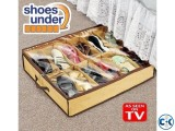 12 Shoes Closet Organizer Under Bed Storage-shoes Under.