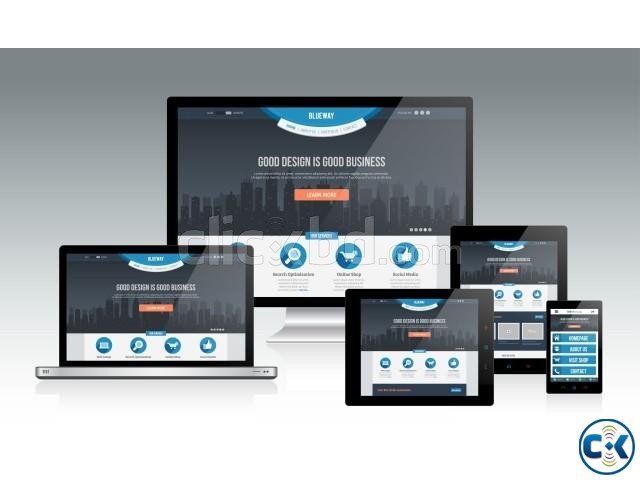 Responsive Website Design Start from tk. 7000   ClickBD large image 0